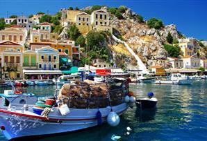 Greek Island of Rhodes from Fethiye